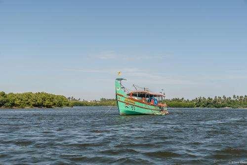 Pondy depuis la baie du Bengale